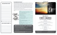 First Church June 5 and 6, 2021 Bulletin