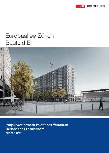Europaallee Zürich Baufeld B - Baublatt
