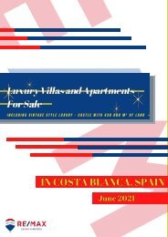 REMAX Catalogue June 2021 - Luxury Villas and Apartments