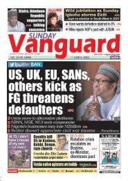 06062021 - US, UK, EU SANs others kick as FG threatens defaulters