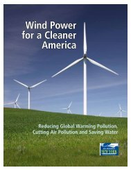 Wind Power for a Cleaner America - Environment New York ...