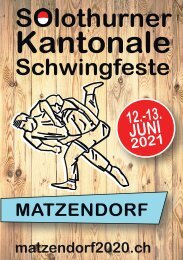 Festführer Solothurner Kantonale Schwingfeste 2021