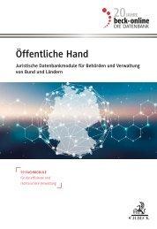 beck-online Öffentliche Hand 2021