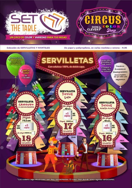 REVISTA 06 SET THE TABLE Servilletas y manteles, en papel y propileno