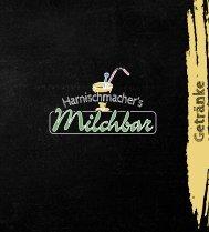 Getränkekarte - Harnischmachers Milchbar Attendorn