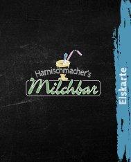 Eiskarte - Harnischmachers Milchbar Attendorn