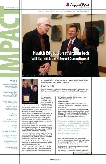 Health Education - University Development - Virginia Tech