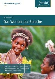 Das Wunder der Sprache - Wycliff Magazin 2021-2