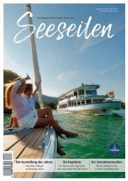 Seeseiten – das Magazin für die Region Tegernsee, Nr. 65, Ausgabe Sommer 2021