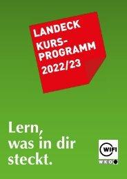 WIFI Landeck Kursprogramm 2021/22