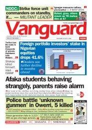 07062021 - Afaka students behaving strangely, parents raise alarm