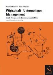 Leseprobe: Thommen/Grösser: Wirtschaft, Unternehmen, Management