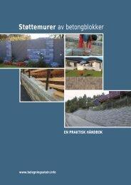 Støttemurer av betongblokker - Norsk Belegningsstein