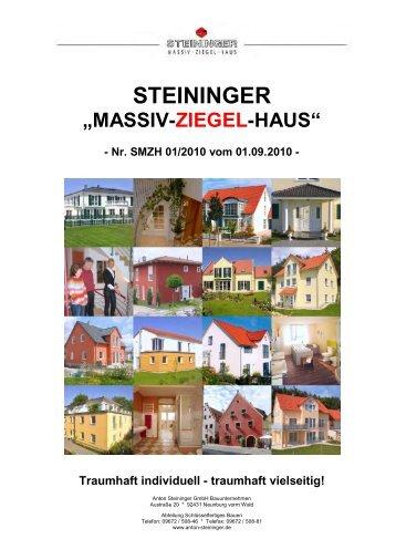 Steininger Bau bau und leistungsbeschreibung steininger massiv ziegel haus