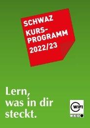 WIFI Schwaz Kursprogramm 2021/22