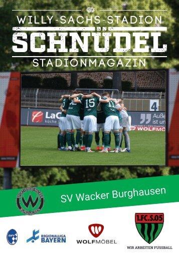 SCHNÜDEL Stadionmagazin Ligapokal Trostrunde Finale SV Wacker Burghausen