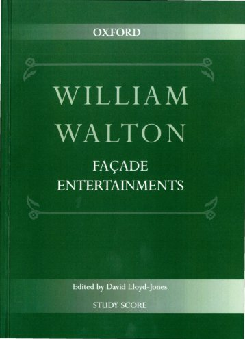William Walton - Façade Entertainments
