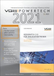 VGB POWERTECH 5 (2021) - International Journal for Generation and Storage of Electricity and Heat