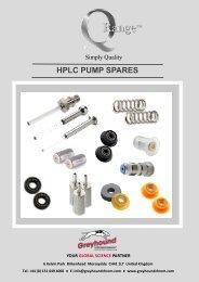 Greyhound Chromatography Q-Range HPLC Pump Spares