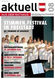 Ausgabe September 2008 NR-Wahl - Freistadt