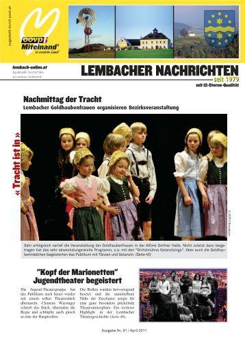 April 2011 - Lembacher Nachrichten