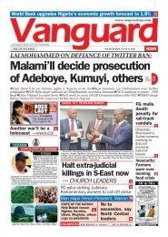 09062021 - Malami'll decide prosecution of Adeboye, Kumuyi, others