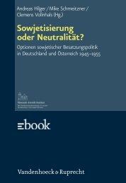 Sowjetisierung oder Neutralität? - E-cademic