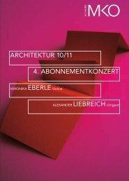 4. ABONNEMENTKONZERT ARCHITEKTUR 10/11 - Münchener ...