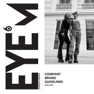 EYEM , Graphic Design final project branding manual by Babette Huitsing at Marbella Design Academy