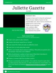 ALL Juliette Gazette June 2021