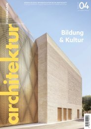 architektur FACHMAGAZIN Ausgabe 4 2021
