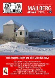 MAILBERG aktuell - Bezirksorganisation Hollabrunn - SPÖ