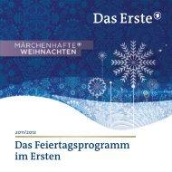Das Feiertagsprogramm im Ersten - DasErste.de