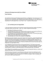 Satzung der Berufsgenossenschaft Holz und Metall Erster ... - BGHM
