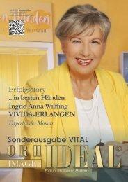 Sonderausgabe Orhideal VITAL 2021 mit Expertin & Titelgesicht Ingrid Anna Wilfling