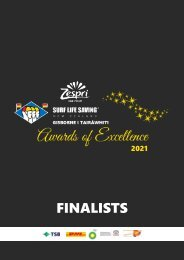 2021 Gisborne/Tairāwhiti Awards of Excellence Finalists Booklet