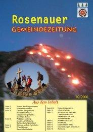 02. Ausgabe 2006 - Rosenau am Hengstpaß - Land Oberösterreich