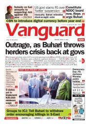 11062021 - Outrage, as Buhari throws herders crisis back at govs