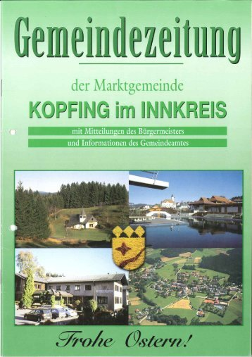 Gemeinderatssitzung vom 8. März 2002 - Kopfing im Innkreis