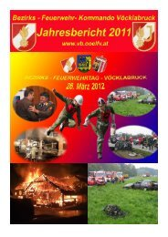 Jahresbericht 2011 - Bezirksfeuerwehrkommando Vöcklabruck