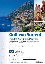 Golf von Sorrent - Volksbank Schupbach eG