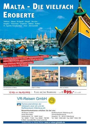 MALTA - DIE VIELFACH EROBERTE - VR-Reisen GmbH