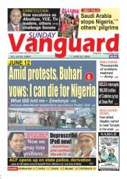 13062021 - Amid protest , Buhari vows:: i can die for Nigeria