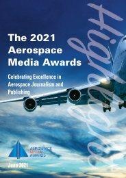 2021 Aerospace Media Awards brochure