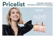 Valid until 10/2021 Tallink-Silja Line Perfumes, Cosmetics and accessories pricelist