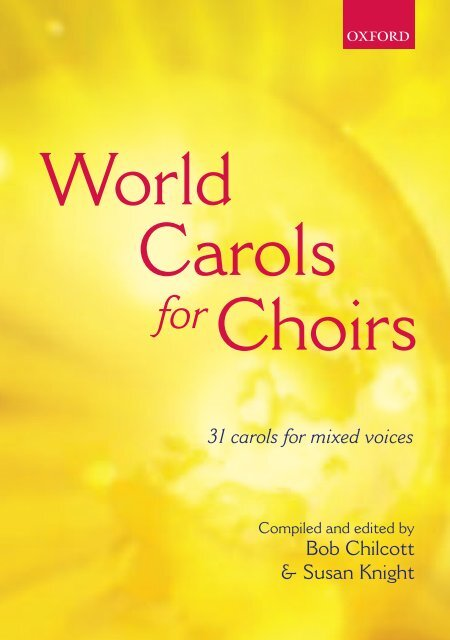 World Carols for Choirs - 31 Carols for mixed voices