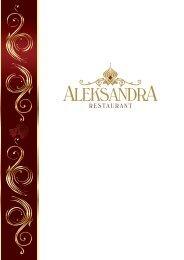 Russian A la Carte Aleksandra menu Spring-Summer 2021