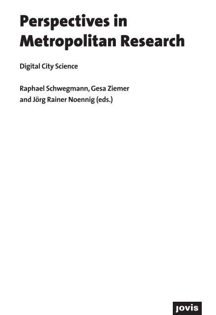 Digital City Science