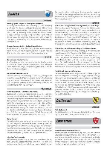 Gemeindespalten KW24 / 17.06.21