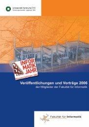 Veröffentlichungen und Vorträge im Jahr 2006 - Fakultät für Informatik
